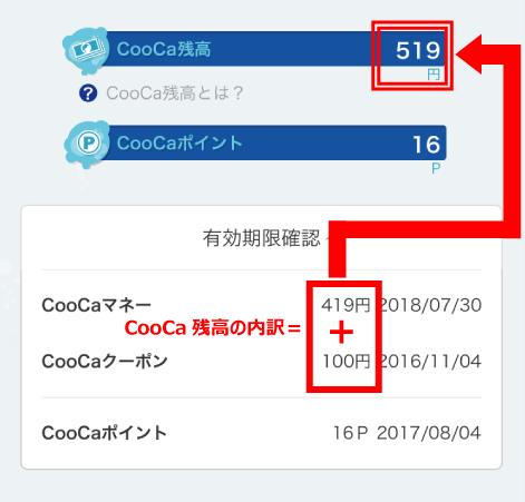 CooCa残高